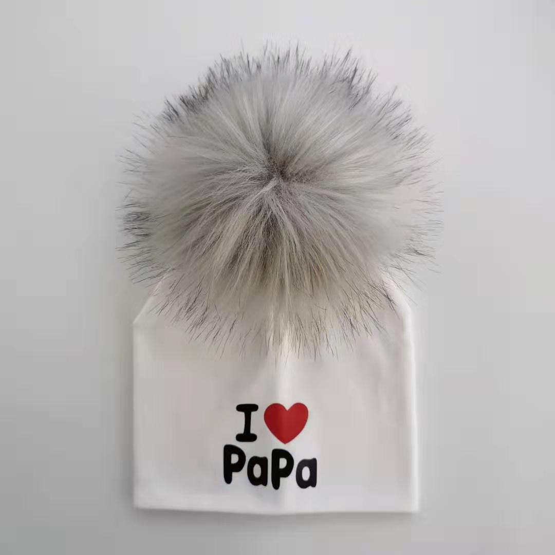 Baby's I Love Mama and Papa Winter Hat