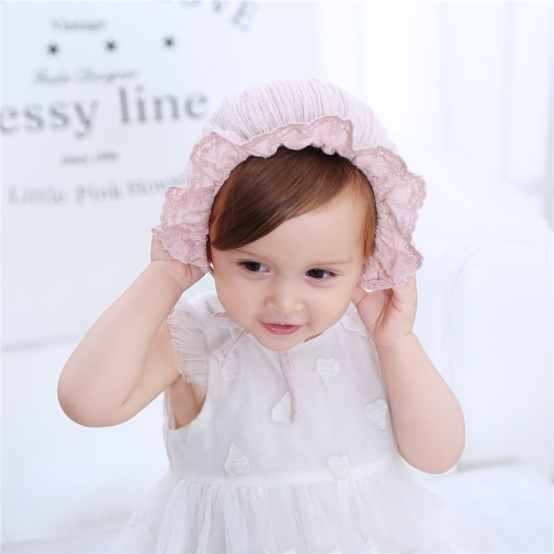Baby Girl's Lace Patterned Hat