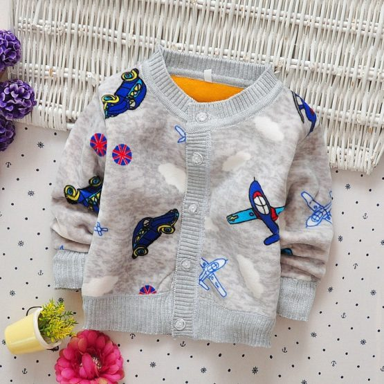 Baby Boy's Plane Patterned Cotton Sweater