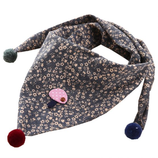 Baby Girl's Triangle Printed Scarves
