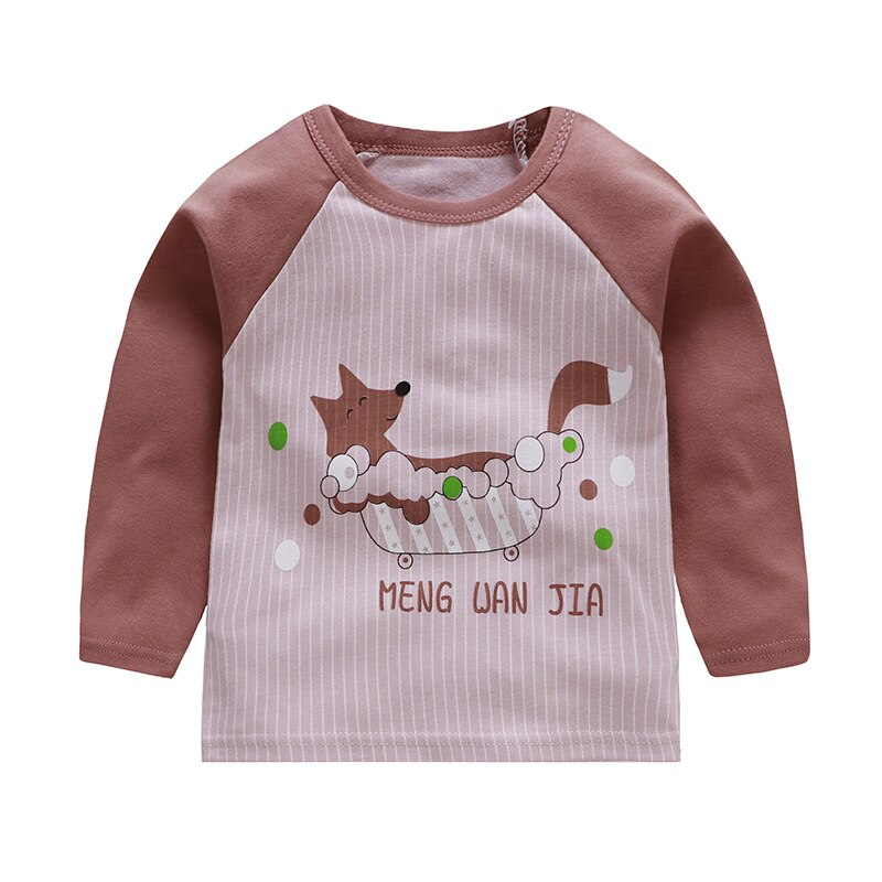 Striped Cotton Long Sleeve T-shirt for Boys
