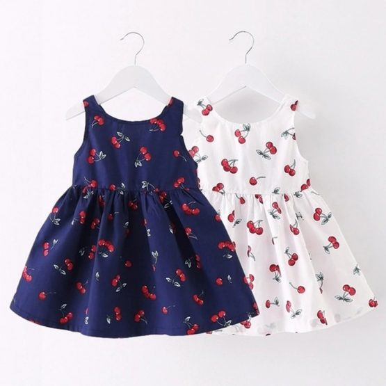 Baby Girl's Sleeveless Dress with Bow